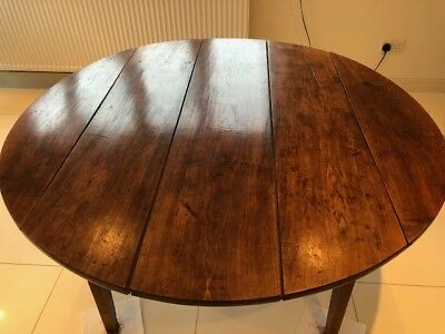 Antique early 19th century French chestnut farmhouse table