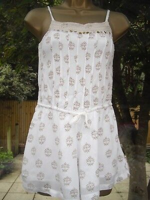 Next Girls Fully Lined Playsuit In Good Clean Condition - Age 10 Years