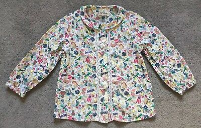 Next Girls White Blouse with Multi Coloured Print 12-18 Months