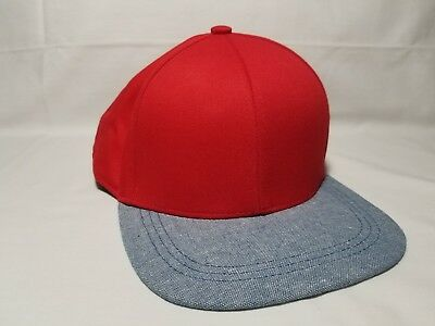 604d73a6 Divided H&M Red Blueish Gray Cotton Baseball Hat Snapback Cap One Size
