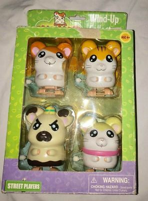 NEW Boxed Hamtaro Wind-Up Wind Up Collector Pack