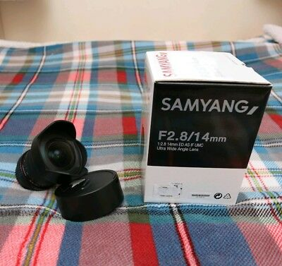 Samyang 14mm F2.8 ED AS IF UMC ultra wide angle lens for Canon EF and EF-S fit