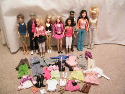 High School Musical & Other Pop Star Dolls -  Bundle of Dolls with Accessories
