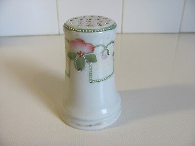 Antique Hand Painted Porcelain Sugar Shaker made in Japan