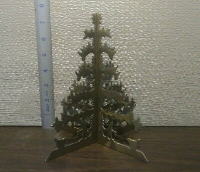 "7-1/2"" Tall Vintage Brass Christmas Tree. 2 Piece Sliding Tree"