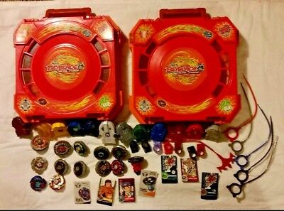 Beyblade Metal Fusion Battle Arena Lot 47 Pcs.