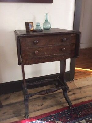 Historic 3 Drawer 1800's Table Once Owned by President Jeff Davis Natchez MS