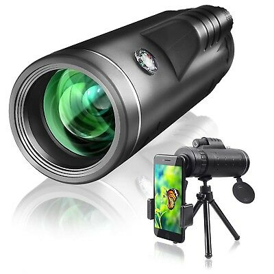 Monocular Telescope 40x60 with Extendable Tripod and Smartphone Adapter