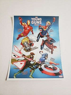 SDCC 2018 Exclusive MARVEL YOUNG GUNS Avengers Captain Gambit Promo Poster 10x13