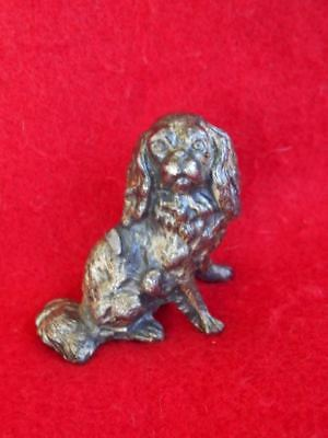 "RARE Cavalier King Charles Spaniel Solid Metal Detailed Metal 2""H Dog Figurine"