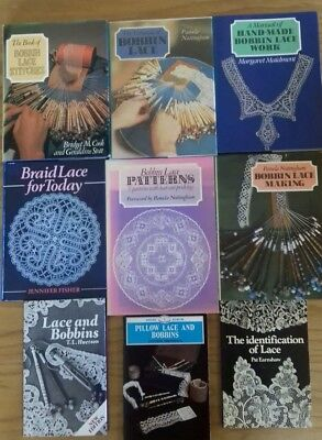 Selection of 9 bobbin lacemaking books. All good clean condition