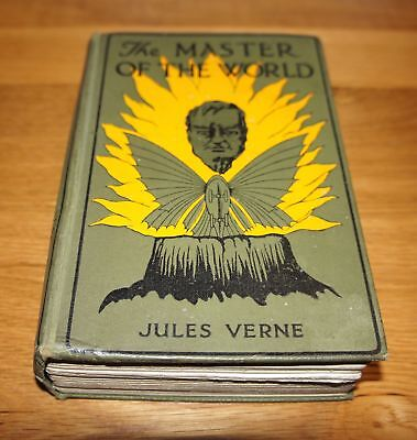 Antique Book Hardcover Jules Verne The Master Of The World Sampson Low