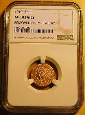 1910 $2.5 Gold Coin (AU Details - Removed From Jewelry) JUST BACK FROM NGC!!!!!!