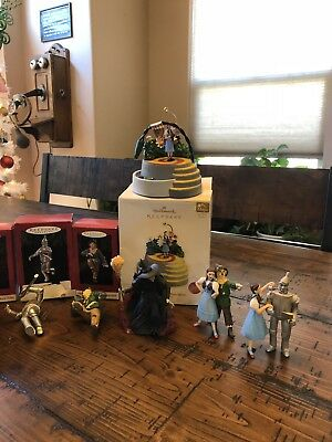 Lot Of 11 Wizard Of Oz Hallmark Keepsake Christmas Ornaments