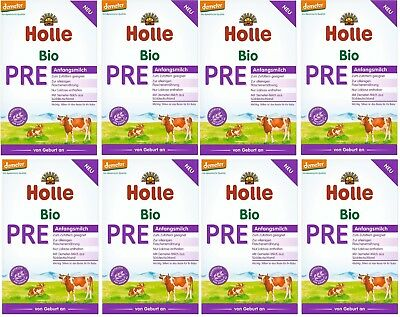 8 x HOLLE - PRE - Milk from the day of the birth 400 gr - German Production