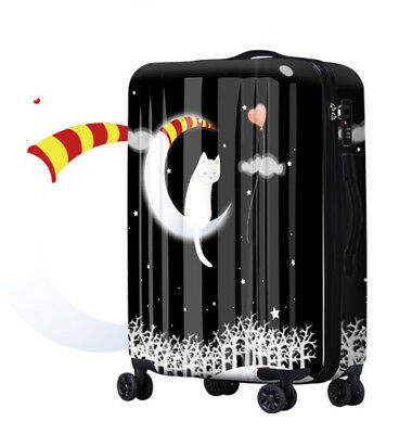 D743 Cartoon Cat Universal Wheel ABS+PC Travel Suitcase Luggage 20 Inches W