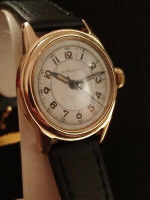 Gents vintage 1940s 14ct gold longines watch serviced & working well