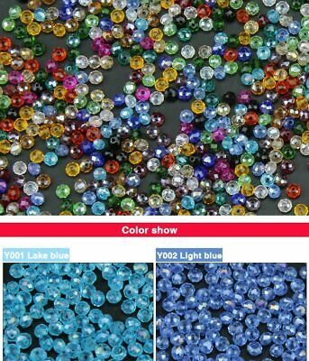 4mm 100pcs Flat Round Shape Faceted Austrian crystals loose beads ball sup