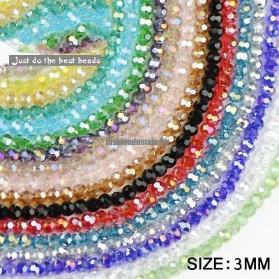 Ball Faceted Austrian crystal beads 3mm 200pcs Top quality Round sphere sh