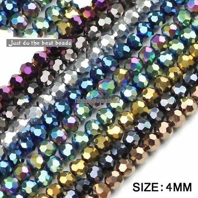 Faceted shape Austrian crystal beads plated color Round Loose bead 10