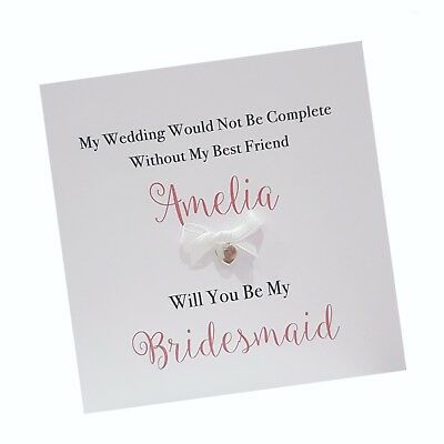 Personalised Will You Be My Maid of Honour Card Bridesmaid Sister Daughter Niece