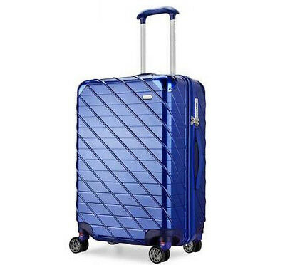 D27 Blue Lock Universal Wheel ABS+PC Travel Suitcase Luggage 24 Inches W