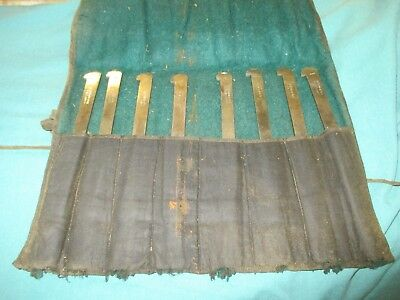Vintage plough plane blades by Griffiths of Norwich