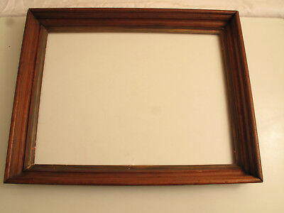 Vtg Antique Wood Mahogany Walnut Art Deco Picture Frame 28 X22