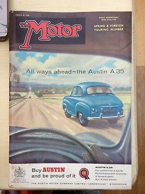 The Motor Magazine, March 26th 1958, One Shilling. Austin A35