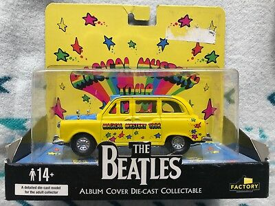 The Beatles Album Cover Die-Cast Magical Mystery Tour Taxi And Bus