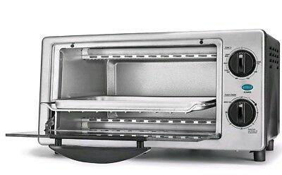 Bella 4 Slice Stainless Steel Toaster Oven with Auto Shut-Off