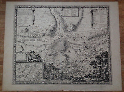 Antique Engraving Sebastian Beaulieu Map of the Siege of Sirck Sierck