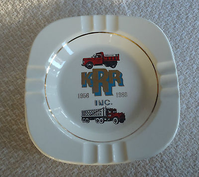 Vintage K R R Resendes Inc. Trucking truck Advertising ashtray 1956-1986