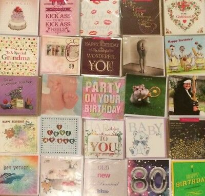 Wholesale Joblot of 100 Brand New Top Quality Greetings Cards ***FREE POSTAGE***