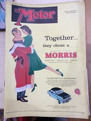The Motor Magazine, December 17th 1958 One Shilling Morris Minor Cowley & Oxford