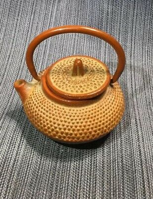 Vintage Miniature Cast Iron Water Dropper Tea pot Kettle Terra-cotta Color