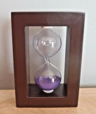 Wooden Hourglass Egg Timer approx. 2.5 minutes