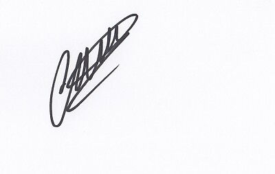 CALUM CHAMBERS SIGNED 6x4 WHITE CARD - Fulham FC / Arsenal