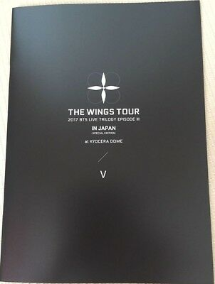 BTS V TAEHYUNG THE WINGS TOUR IN JAPAN official goods Photobook photo book kpop