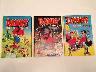 3 Classic DANDY ANNUALS 1995 1996 & 1998 All Unclipped Very good conition