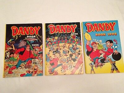 3 Classic Unclipped DANDY ANNUALS 1996 1997 1998 VGC Collectors Items