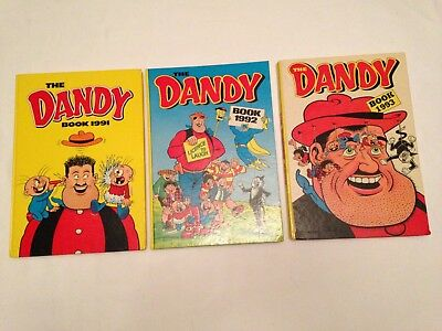 Classic Unclipped 3 DANDY ANNUALS 1991 1992 & 1993 VGC Collectors Books