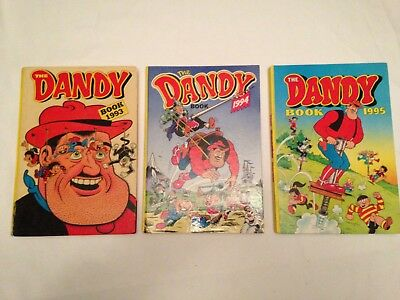 3  Classic Collectors Items All Unclipped DANDY ANNUALS 1993,1994,1995 VGC