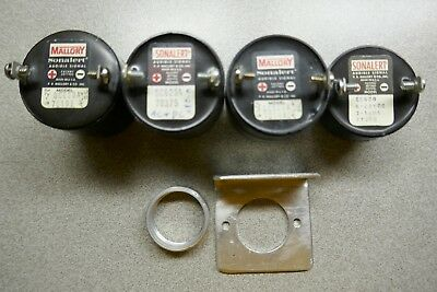 Lot of three Mallory Sonalert SC628A  6-28V  AC & DC  Alarm