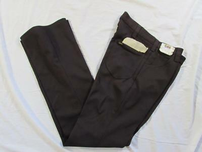 Vtg NOS 70s Lee Riders USA Made Polyester Boot Cut Pants 32x35.5 Sta Prest Jeans