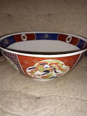 Imari Japan Hand Painted Floral Bowl-Gold Trim-Lovely Bowl-Marked