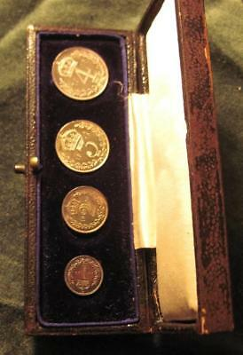 1905 Maundy set of 4 -superb proof coins and nice case---see pics