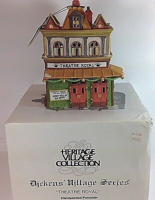 RETIRED Dept. 56 Heritage Village Dickens Series THEATRE ROYAL #55840 IN BOX