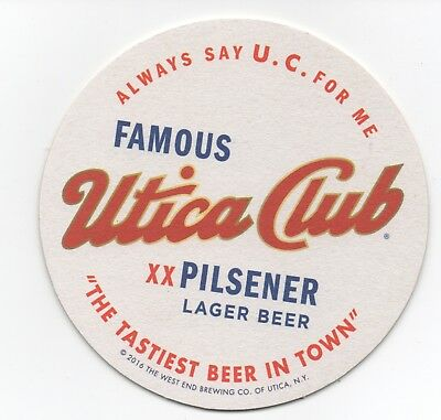 Famous Utica Club 4  Inch Beer Coaster
