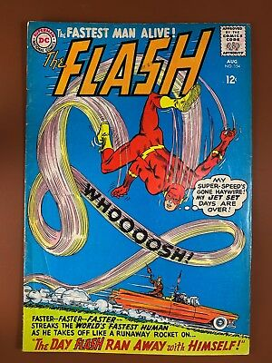 The Flash #154 DC Comics appearance Silver Age NO RESERVE